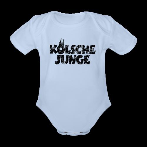 Kölsche Junge (Vintage Schwarz) Babybody - Baby Bio-Kurzarm-Body