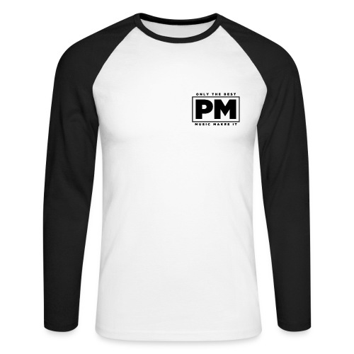 Men's Prestigious Music Long Sleeve Baseball Tee - Men's Long Sleeve Baseball T-Shirt
