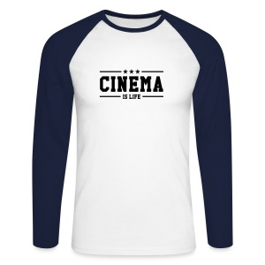Cinema is Life Long Sleeve Tee - Men's Long Sleeve Baseball T-Shirt
