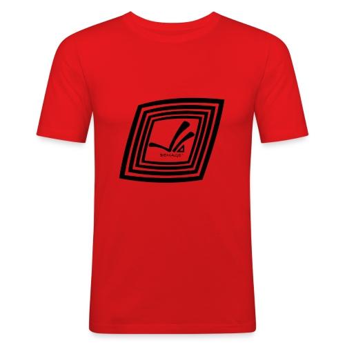 BEMAGE Männer T-Shirt SIX - Männer Slim Fit T-Shirt