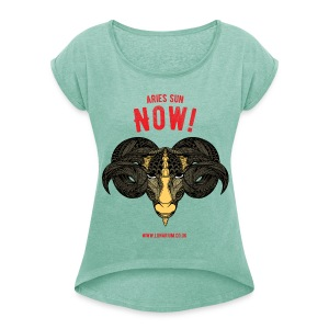 Aries Sun Women's T-Shirt - Women's T-shirt with rolled up sleeves