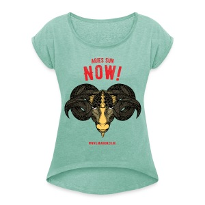 Aries Sun Women's T-shirt with rolled up sleeves - Women's T-shirt with rolled up sleeves