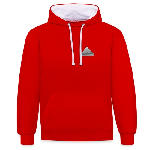 Red/White Hoodie  - Contrast Colour Hoodie