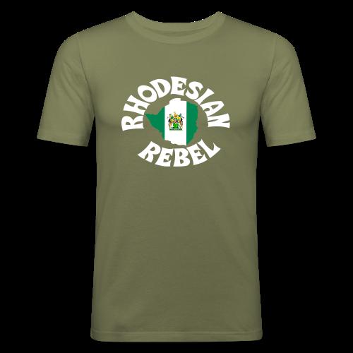 Rhodesian Rebel - Männer Slim Fit T-Shirt
