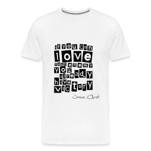 T-Shirt Männer (Love your enemy) - Männer Premium T-Shirt