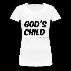 T-Shirt Frauen (God´s Child) - Frauen Premium T-Shirt