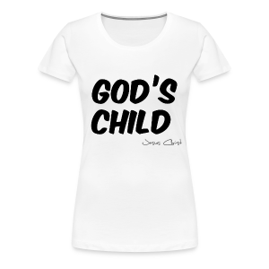 T-Shirt Frauen (God´s Child) - Frauen Premium T-Shirt
