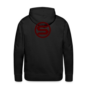 S0rfyPlays Men Black Hoodie (LOGO on the back) - Men's Premium Hoodie