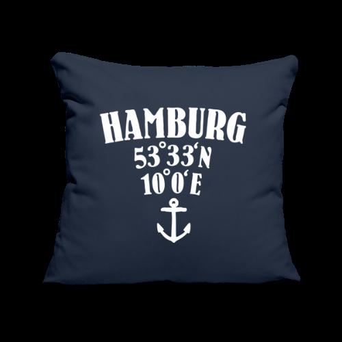 Hamburg Koordinaten (Anker) Kissenbezug - Sofakissenbezug 44 x 44 cm
