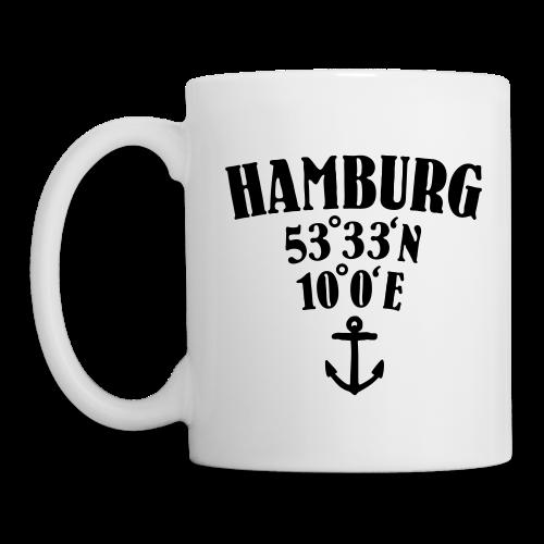 Hamburg Koordinaten Anker Used (Vektor)