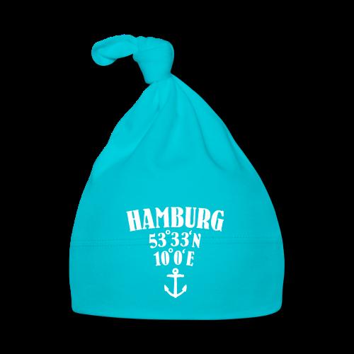 Hamburg Koordinaten (Anker) Babymütze - Baby Mütze