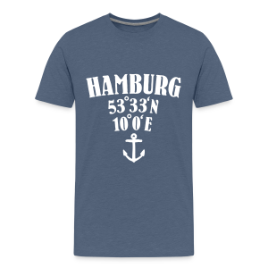 Hamburg Koordinaten (Anker) Teenager T-Shirt - Teenager Premium T-Shirt