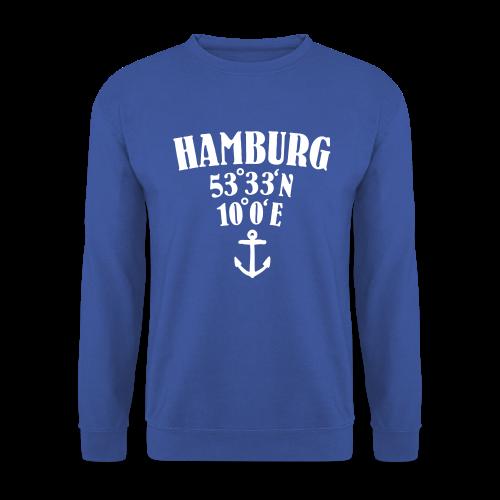 Hamburg Koordinaten (Anker) Pullover - Männer Pullover