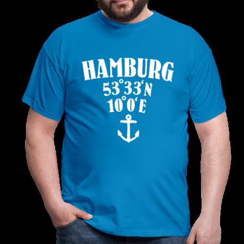 Hamburg Koordinaten (Anker) T-Shirt - Männer T-Shirt