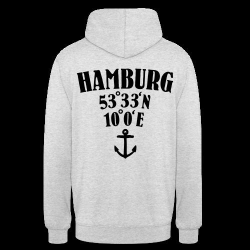 Hamburg Koordinaten (Anker) Hoodie - Unisex Hoodie