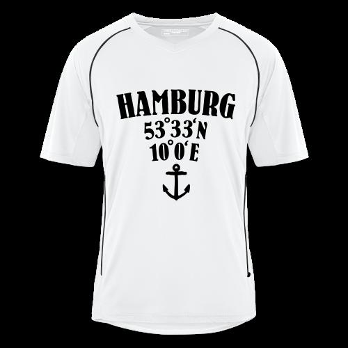 Hamburg Koordinaten (Anker) Trikot - Männer Fußball-Trikot