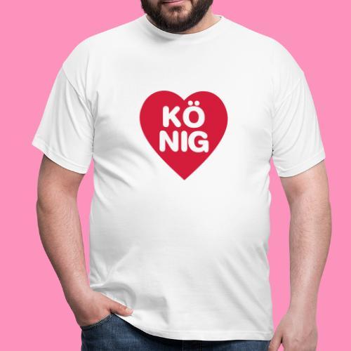 Herz König - Männer T-Shirt