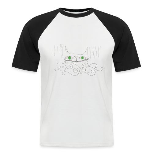 Smiley Cat Baseball tee, Man - Men's Baseball T-Shirt