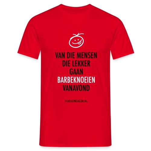 Heren shirt, standaard - Lekker barbeknoeien - Mannen T-shirt