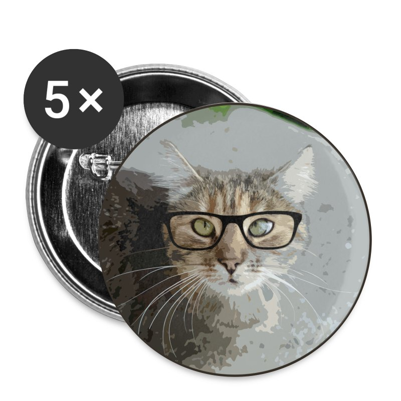 Katzentante Rand - Buttons groß 56 mm
