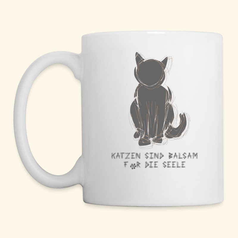 tasse katzen sind balsam f r die seele tasse daisign. Black Bedroom Furniture Sets. Home Design Ideas