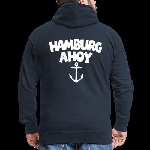Hamburg Ahoy (Anker) Kapuzenjacke - Männer Premium Kapuzenjacke