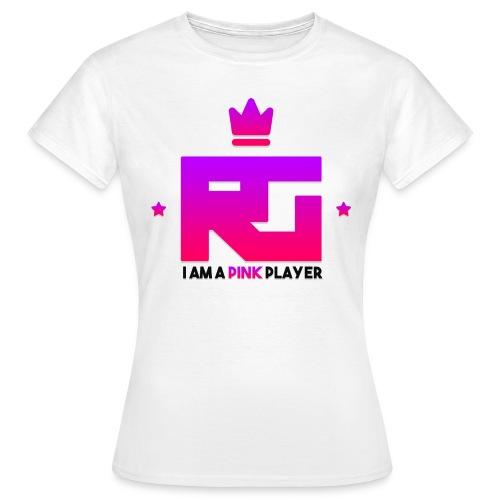 T-shirt RealityGaming Joueuse rose Style 2 - T-shirt Femme