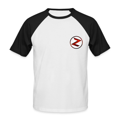 black & white Z shirt - Men's Baseball T-Shirt