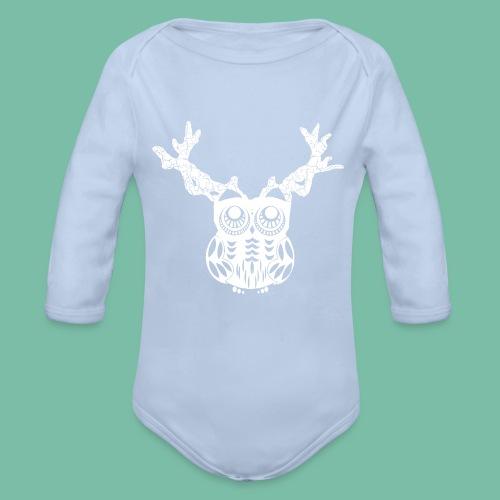 body bébé hibou cerf Brocéliande  Spirit - Body bébé bio manches longues