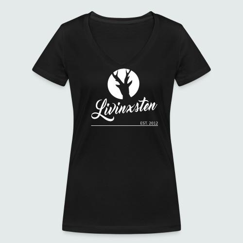 LIVINXsten Damen-Shirt - Frauen Bio-T-Shirt mit V-Ausschnitt von Stanley & Stella