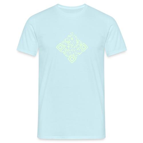 Shirt Himmelblau mit QR Glow in the Dark - Männer T-Shirt