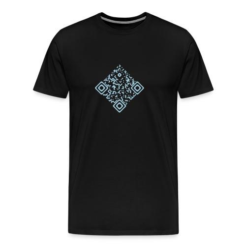 Shirt mit QR Himmelblau - Männer Premium T-Shirt
