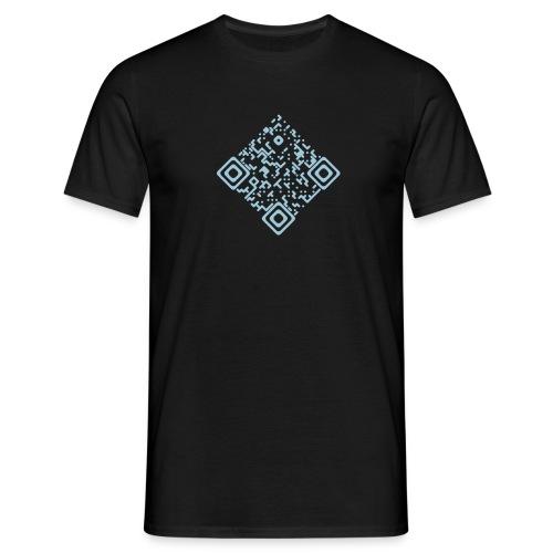 Shirt mit QR Himmelblau - Männer T-Shirt