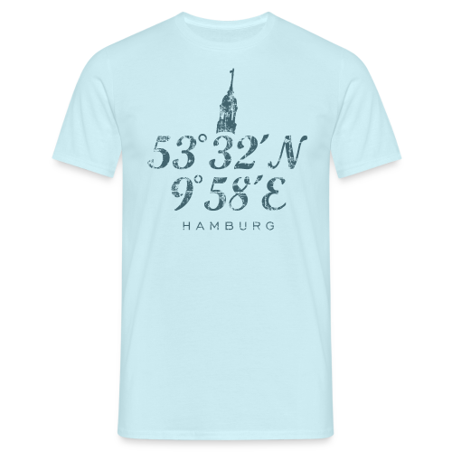 Hamburger Michel Koordinaten (Vintage Blau) T-Shirt - Männer T-Shirt
