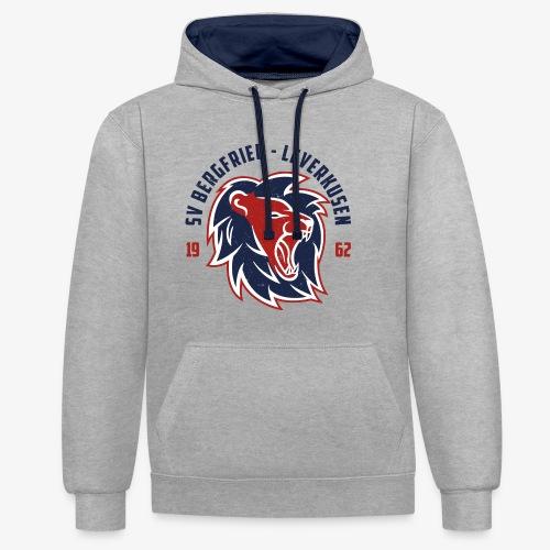 Hoodie Lions Club - Grau - Kontrast-Hoodie
