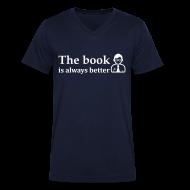 T-shirts ~ Mannen T-shirt met V-hals ~ Het boek is beter!