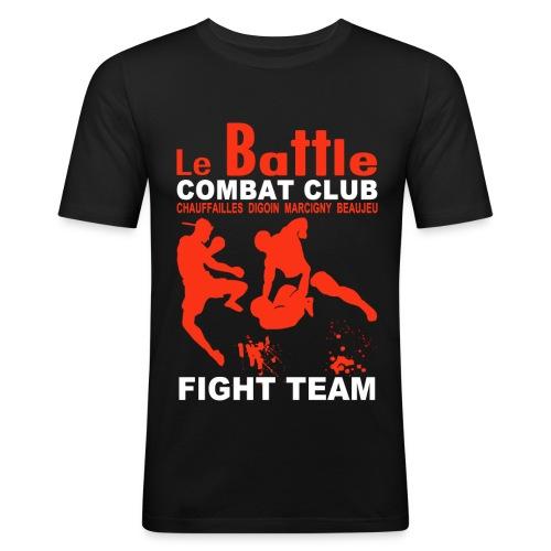 Le tee-shirt moulant homme officiel de la Fight Team du Battle - T-shirt près du corps Homme