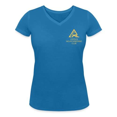 V-Neck w' Sunrise Yellow LMC Logo - Women's Organic V-Neck T-Shirt by Stanley & Stella