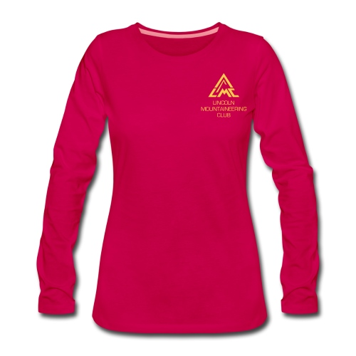 Premium Longsleeve w' Sunrise Yellow LMC Logo - Women's Premium Longsleeve Shirt