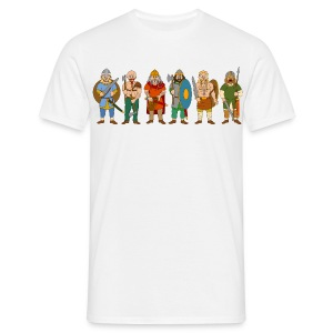 Viking Warriors (Front) - Men's T-Shirt