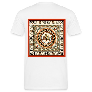 London Leadenhall Roman Mosaic (Back) - Men's T-Shirt