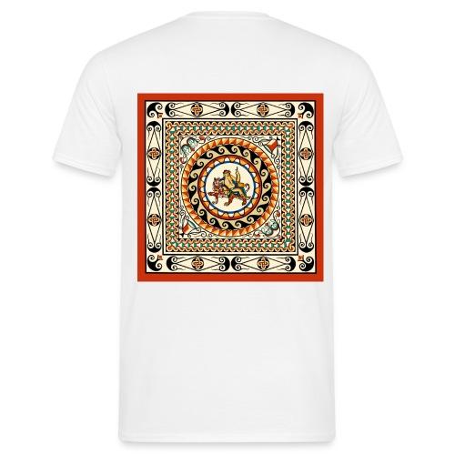 London Leadenhall Roman Mosaic (Back) - Men's T-Shirt