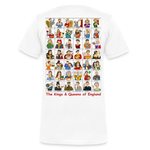 Kings & Queens of England (V-Neck Back) - Men's Organic V-Neck T-Shirt by Stanley & Stella