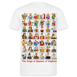 Kings & Queens of England (Back) - Men's T-Shirt
