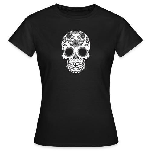 Candy Skull T-shirt - Dame-T-shirt