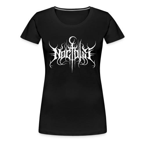 Noctalis Logo White Girly - Frauen Premium T-Shirt