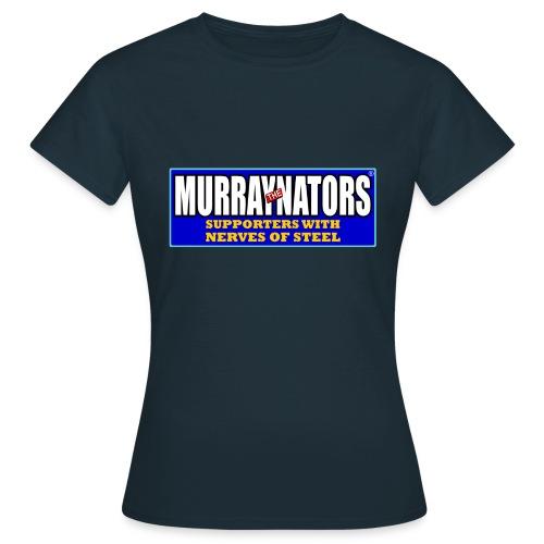 Murraynators - Nerves of Steel Ladies T-Shirt. Navy. - Women's T-Shirt