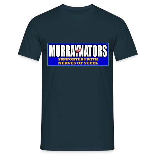Murraynators - Nerves of Steel. Mens T-Shirt. Navy. - Men's T-Shirt