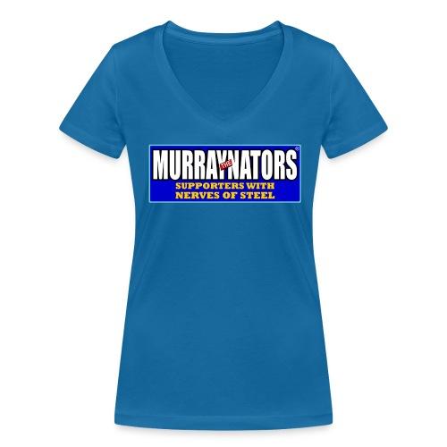 Murraynators - Nerves of Steel Ladies V Neck T-Shirt. Bue. - Women's Organic V-Neck T-Shirt by Stanley & Stella