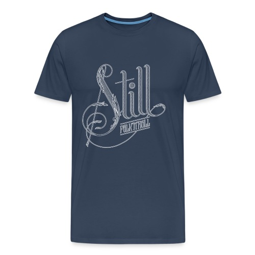 Dude - White Logo - Men's Premium T-Shirt